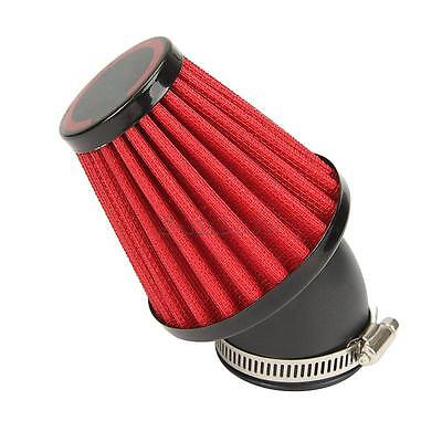 48mm Motorcycle Red 45 Degree Air Filter For Yamaha DT250 XS250 XS400 XT500