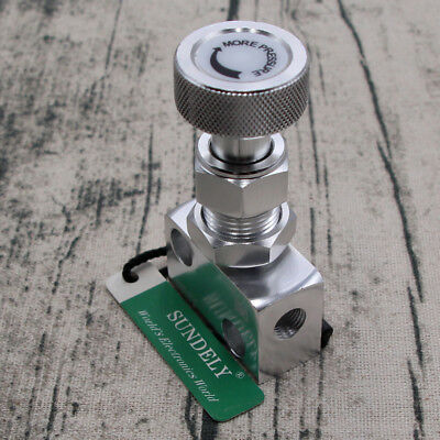 Silver Brake Proportion Adjustable Prop Valve Brake Bias Adjuster Knob Type