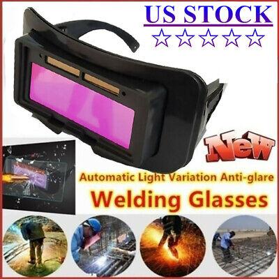 Solar Powered Welding Goggles Helmets Auto Darkening Glasses Protect Eyes Tool