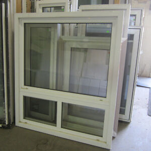 White Picture Window with Bottom Slide - 44 1/2 x 51