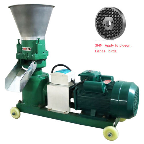 220V Electric 3mm Chicken Animal Feed Pellet Mill Machine Pelletizer
