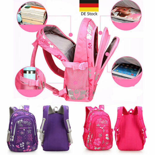 Kinder Mädchen Rucksack Schulrucksack Wasserdicht Ranzen Schulranzen Schultasche