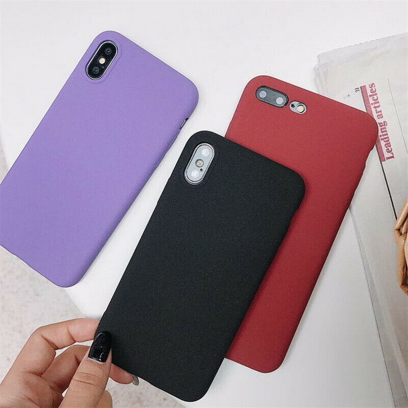 new product e66aa dc67f Details about For iPhone XS Max XR X 8 7 6s Sandstone Matte Soft TPU  Silicone Back Case Cover