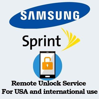SAMSUNG SPRINT NOTE8 S8+ S8 S7 EDGE S7 UNLOCK SERVICE REMOTE UNLOCK