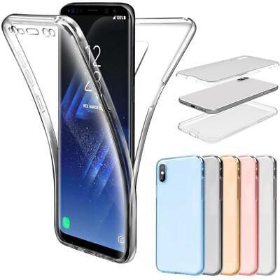 Transparent Handy (Handy Hülle Full Cover Schutzhülle Silikon Case Transparent HandyTasche Bumper)