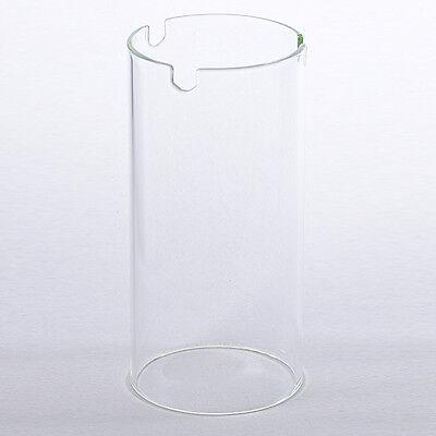 Glaszylinder Ersatzglas  für Grablampen Ø8cm  -- Höhe 16,5cm
