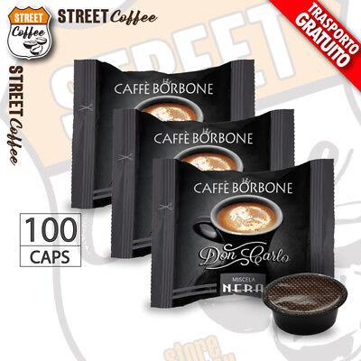 100 Capsule Caffè Borbone Don Carlo Miscela Nera compatibili a Modo Mio gratis