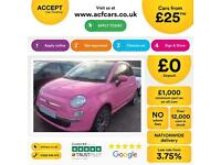 Fiat 500C 1.2 POP FROM £25 PER WEEK!