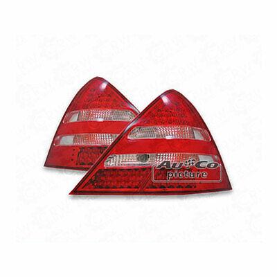 LED Rückleuchten Set Mercedes SLK R170 rot chrom 96->04 B7F