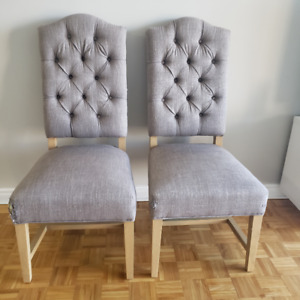 SET OF TWO OCCASIONAL CHAIRS
