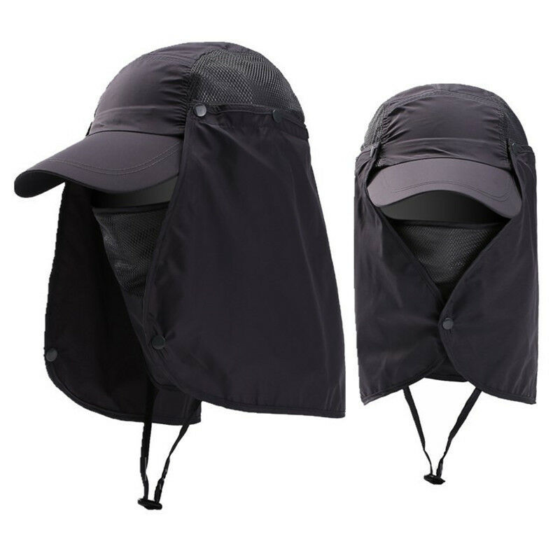 Men Womens Bucket Hat with Neck Flap Face Protector Hats Fishing Hunting Sun Cap Clothing, Shoes & Accessories