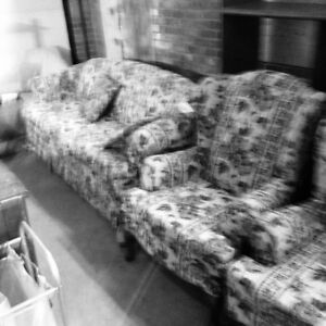 COUCH AND TWO MATCHING ARM CHAIRS
