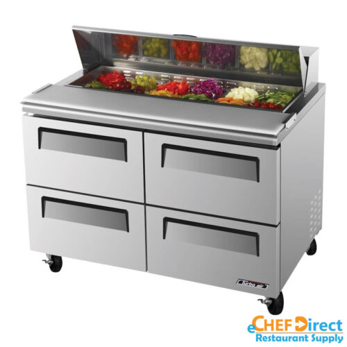 "Turbo Air Tst-48sd-d4-n 48"" Four Drawer Sandwich Prep Table"