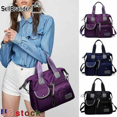 Womens Waterproof Nylon Large Capacity Shoulder Crossbody Handbag Travel Bag