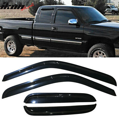 Fits 01-07 Chevy Silverado GMC Sierra Extended Cab Acrylic Window Visors 4Pc Set