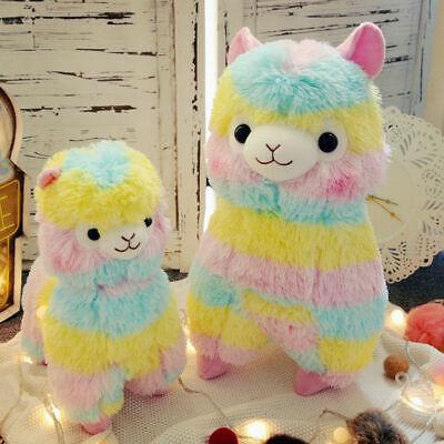 Regenbogen Alpaka Lama Spielzeug Stofftier Vicuna Plüsch Puppe Mädchen Geschenke ()