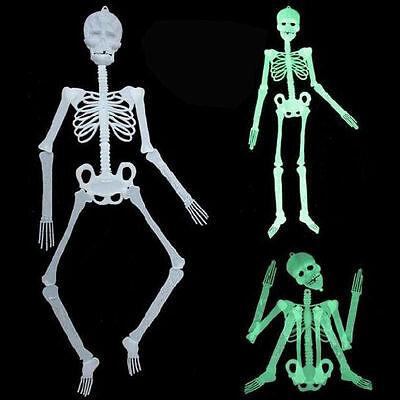 Halloween Luminous Human Skeleton Hanging Decoration Party Scary Skull Decor UK
