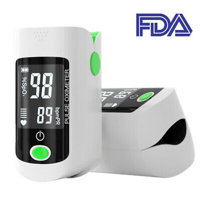 Finger Pulse Oximeter Blood Oxygen Spo2 Monitor Pr Heart Rate Patient Monitor