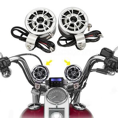 Motorcycle Handlebar Audio Amplifier Stereo Mp3 Speaker System For Harley Honda