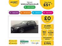 Black BMW 116i 1.6 Se Sport Seats Alloys 2012 FROM £51 PER WEEK!
