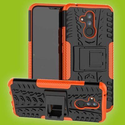 Für Huawei Mate 20 Lite Hybrid Case 2teilig Outdoor Orange Tasche Cover Hülle