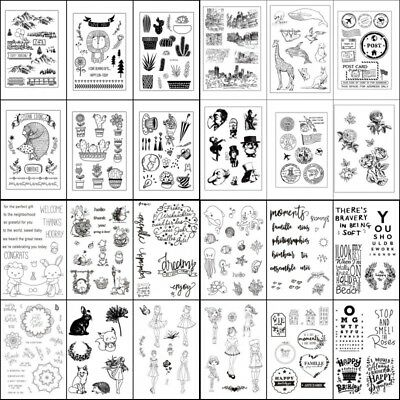 Transparent Clear Silicone Rubber Stamp Cling Diary Scrapbooking Card DIY Decors - Clear Stamps