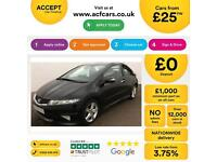 HONDA CIVIC 1.4 1.6 1.8 2.2 I-VTEC ES-T SI TI SE Type S GT FROM £25 PER WEEK!