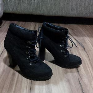 Size 6 Black Bootie Heels