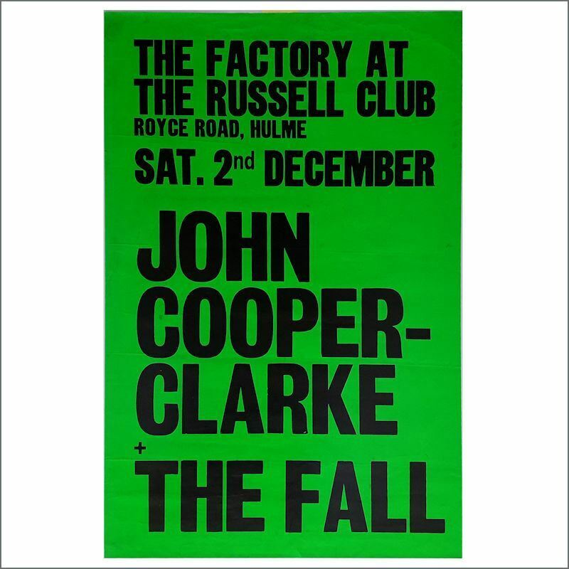 John Cooper Clarke/The Fall 1978 Factory/Russell Club Concert Poster (UK)