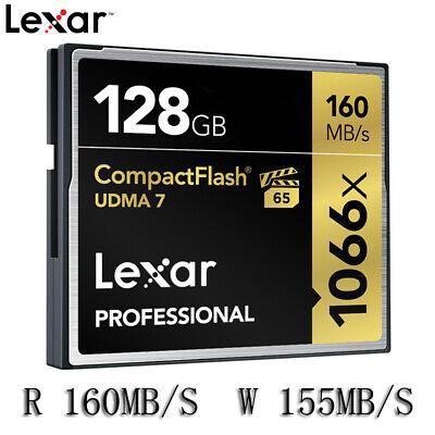 Lexar Professional 128GB Compact Flash 160MB/s CF Memory Card 1066x UDMA7 (Lexar Professional Udma Flash Memory)