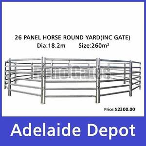 Cattle Horse Round Yard Panel 26Pcs Incl. Gate 18m Diameter Ferryden Park Port Adelaide Area Preview