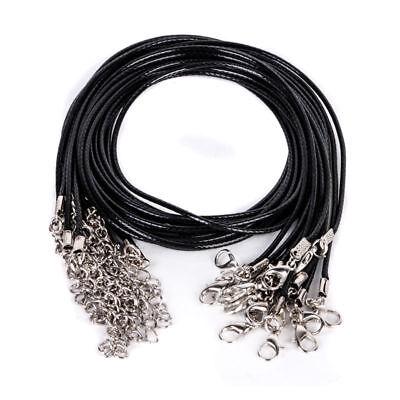Wholesale Bulk lot 10pcs Black PU Leather String 50CM Necklace - Bulk Wholesale