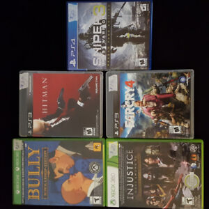 Games for ps3 ps4 Xbox 360