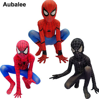 Kid Boy Amazing Spider-man Homecoming Costume Red Black Superhero Cosplay Outfit