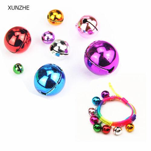 Lot Colorful Iron Loose Beads Christmas Jingle Bells Pendants Charms 8-20 mm