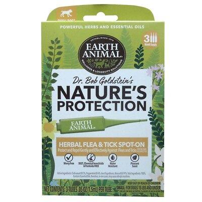 EARTH ANIMAL DOG NATURE'S PROTECTION SPOT FLEA & TICK SMALL  Free Shipping