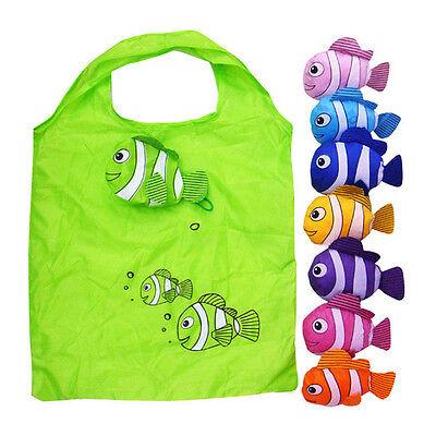 Cute Reusable Grocery Bags (Cute Reusable Fish Folding Shopping Bag Travel Bag Grocery Bags Shopper Tote)