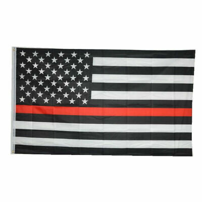 Firefighter Flag 3×5 American Honor Support Thin Red Line Fire Fighter Volunteer Décor