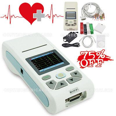 Touch Color Handheld Ekg Machine Single Channel Ecg Electrocardiographsoftware