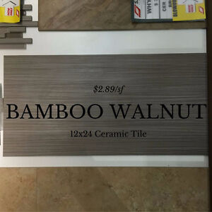 12x24 BAMBOO WALNUT CERAMIC TILE