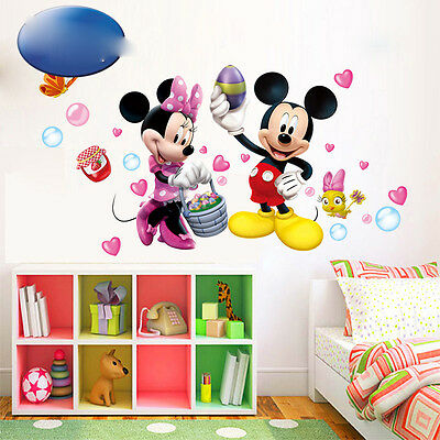 Mickey And Minnie Mouse PVC Mural Wall Sticker Decals Kids Nursery Room Decor](Mickey And Minnie Mouse Decorations)