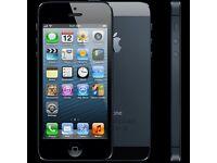 Black unlocked iPhone 5 16gb - damaged screen