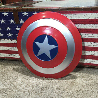 Captain America Decorations (Avengers Captain America Shield Iron Replica Vintage Cosplay Prop Bar)