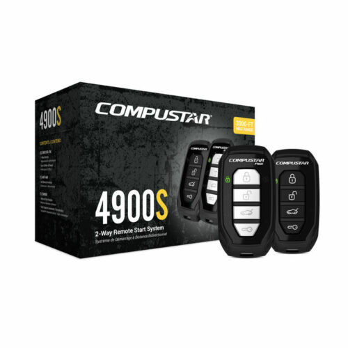 CS4900-S (4900S) 2-way Remote Start and Keyless Entry System with 3000-ft