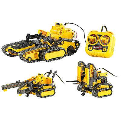 Playtastic 3in1 Geländegängiger Kettenroboter mit Kabel-Fernsteuerung (Bausatz)