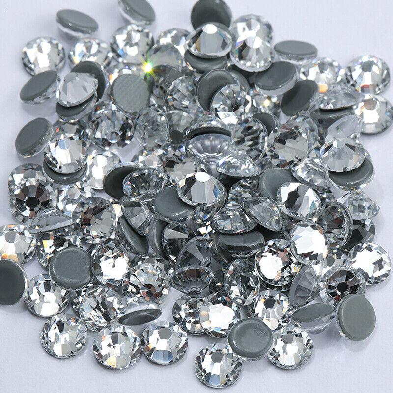 1440 Pcs Clear Iron On Hotfix Rhinestones Super Bright Glass Strass Stones
