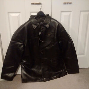 Emporio Armani Classic Leather Jacket -New / Never Worn /Replica Cambridge Kitchener Area image 4