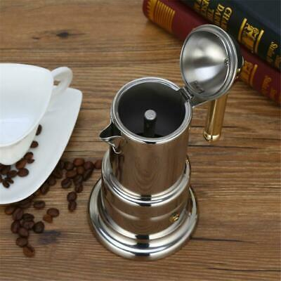 1x Edelstahl Moka Espresso Kaffee Latte Maker Percolator Herd Pot 4 Tassen