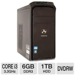 PC Gateway i3@ 3.3Ghz, 6Go, 1Tb, HDMI, Wifi, Windows 7