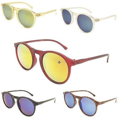 Designer Keyhole Circle Round Flash Mirror Lens Lenon That Sunglasses 70s Depp - Lenon Sunglasses